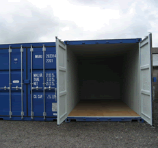 Large capacity storage with double doors for convenient access.